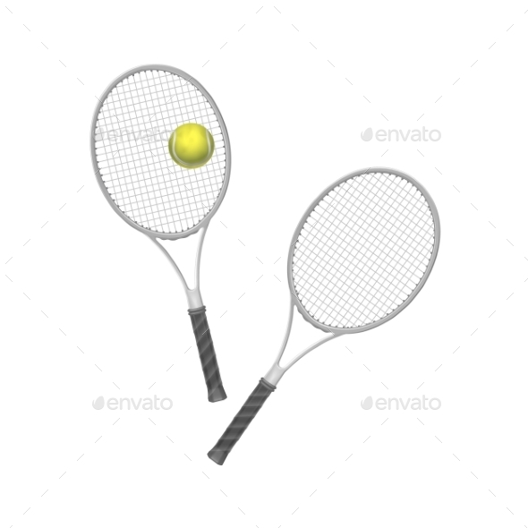 GraphicRiver Tennis Rackets with Ball 11592276