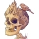 Colorful Illustration with Skull and Bird - GraphicRiver Item for Sale