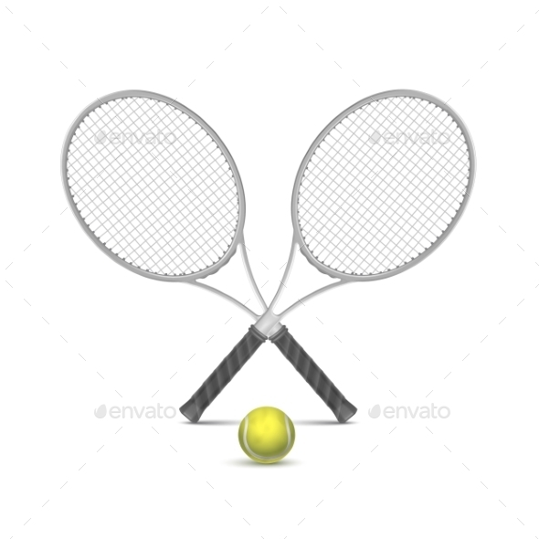 GraphicRiver Tennis Rackets with Ball 11592326