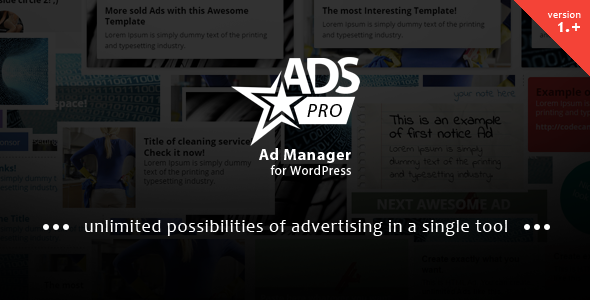 ADS PRO - Multi-Purpose WordPress Ad Manager - CodeCanyon Item for Sale
