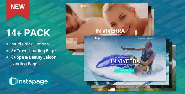 TravelPro - Spa Pro | Beauty Salon | Yoga | Massage Instapage Landing Pages