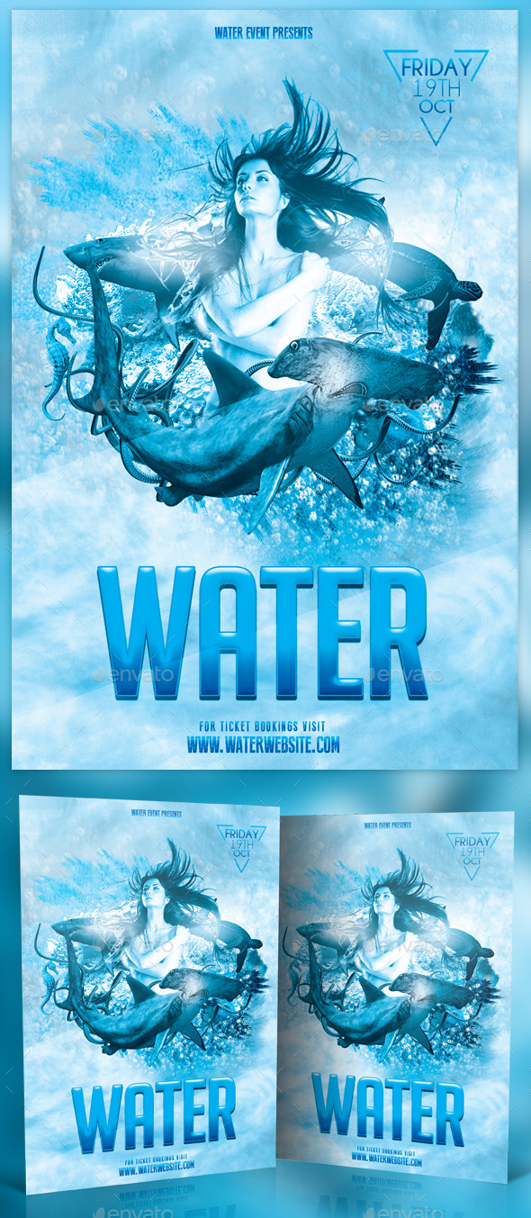 GraphicRiver Water Photoshop Flyer 11592582