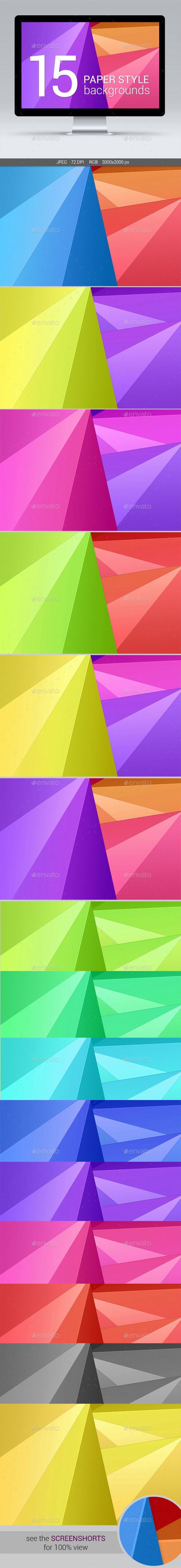 GraphicRiver 15 Paper Style Backgrounds 11592675