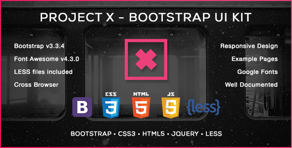 CodeCanyon Project X Bootstrap Skin & UI Kit 11592757