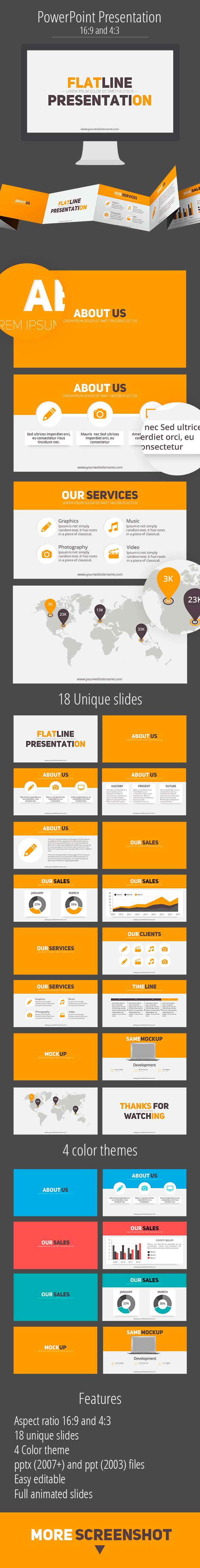 GraphicRiver Flat line business presentation 11592814