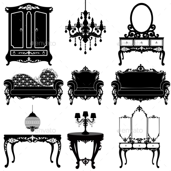 GraphicRiver Collection of Furniture 11592914