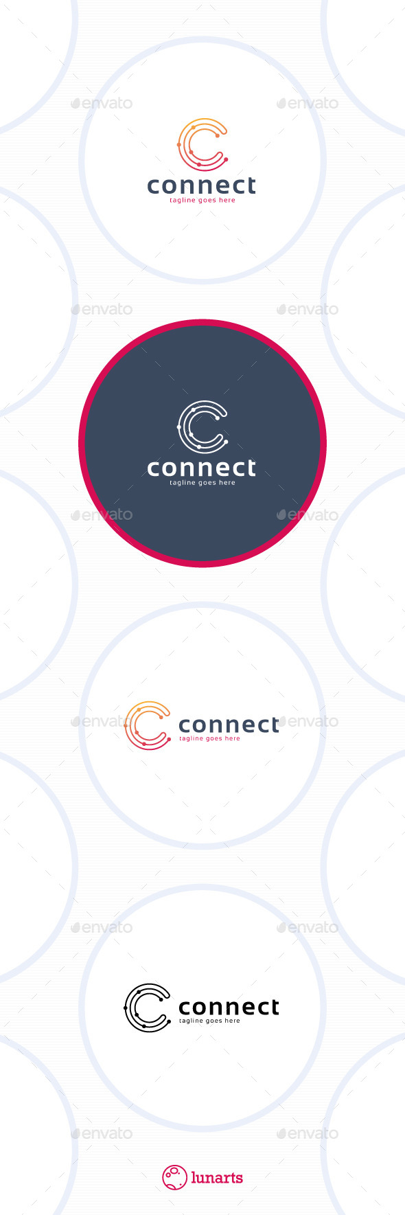 GraphicRiver Connect Line Logo Letter C 11592971