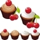 Cupcake with Cherry - GraphicRiver Item for Sale