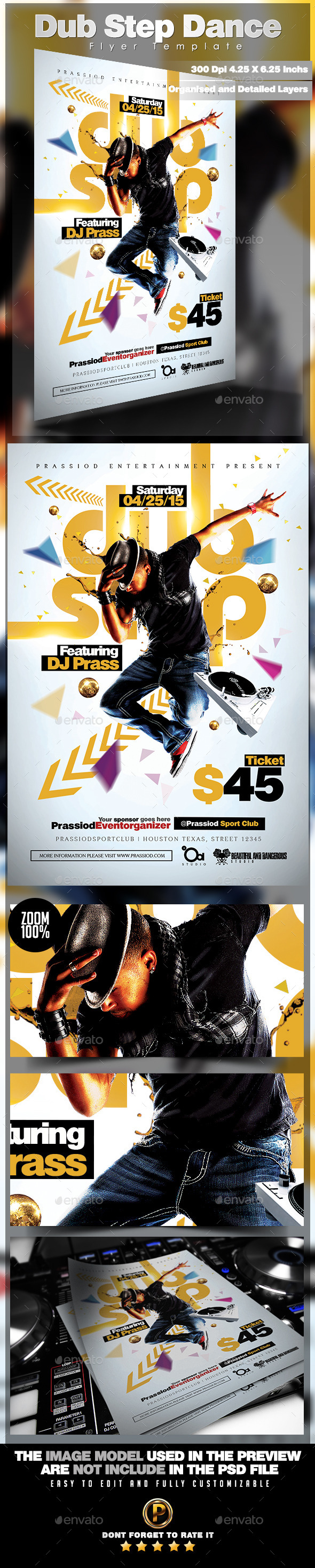 GraphicRiver Dub Step Dance Flyer Template 11593245