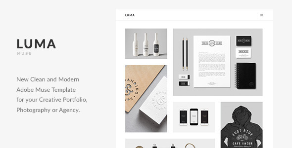 ThemeForest LUMA Creative Multi-Purpose Muse Template 11593251