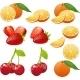 Orange Cherry Strawberry Illustrations - GraphicRiver Item for Sale