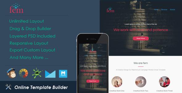 ThemeForest Fem Responsive Email & Drag & Drop Builder 11524466