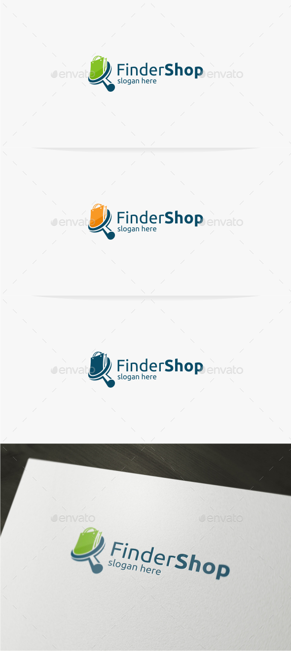 GraphicRiver Finder Shop Logo Template 11593532