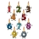 Cartoon Numbers Characters with Birthday Candles - GraphicRiver Item for Sale