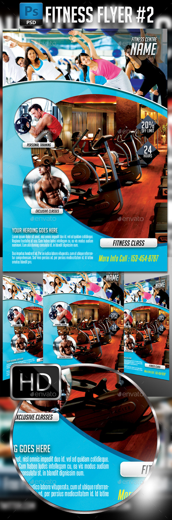 GraphicRiver Fitness Flyer 2 11593680