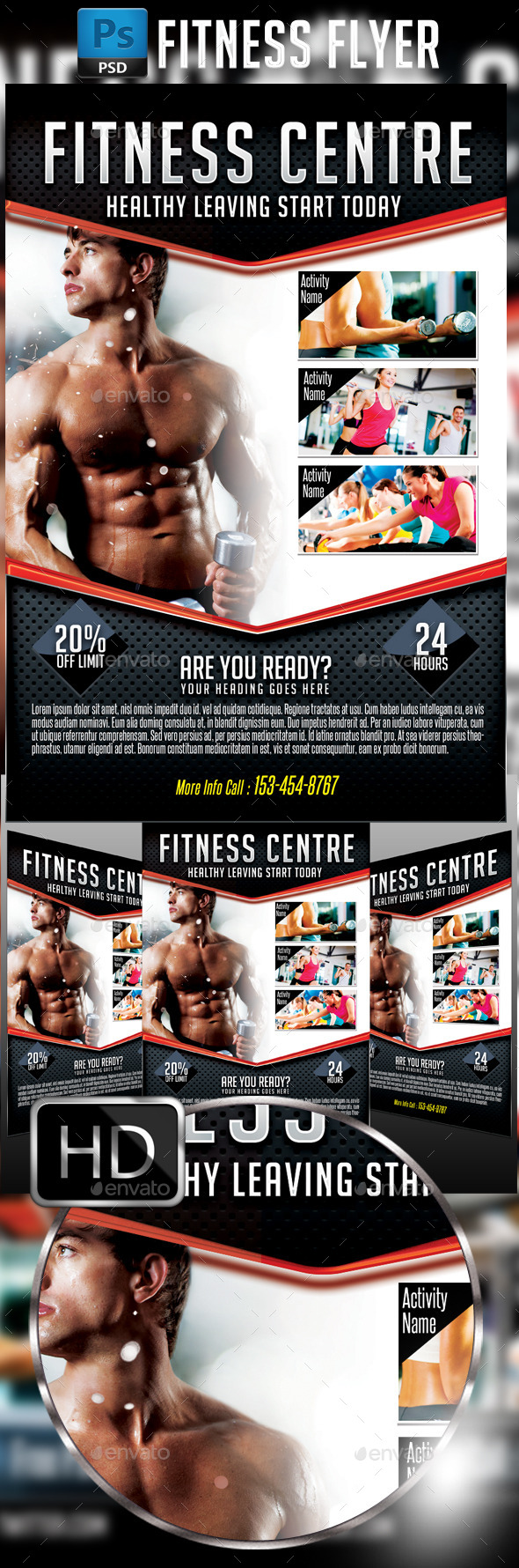GraphicRiver Fitness Flyer 11593686