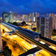 hong kong urban downtown and high speed train at night - PhotoDune Item for Sale