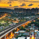 hong kong urban downtown and sunset speed train - PhotoDune Item for Sale