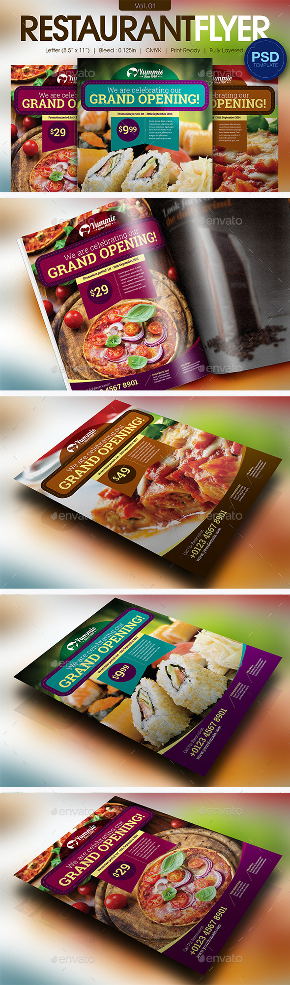 GraphicRiver Restaurant Flyer Vol.01 11595821