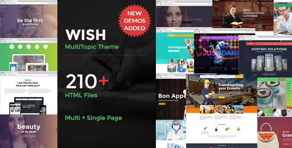 Wish-Multipurpose MultiPage + One Page