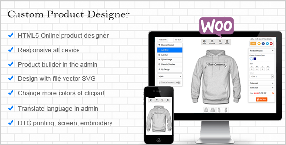 WooCommerce Custom Product Designer