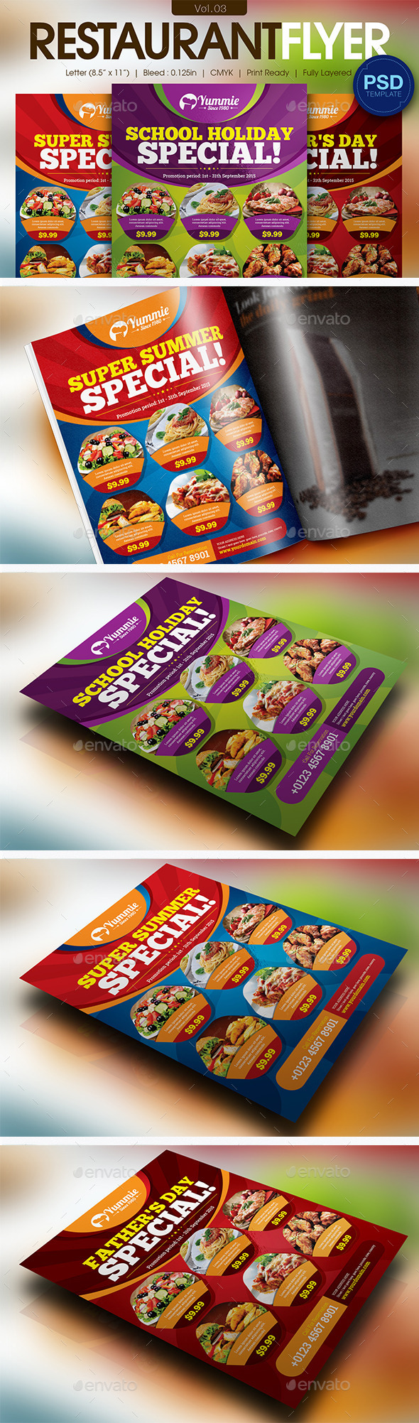 GraphicRiver Restaurant Flyer Vol.03 11595972