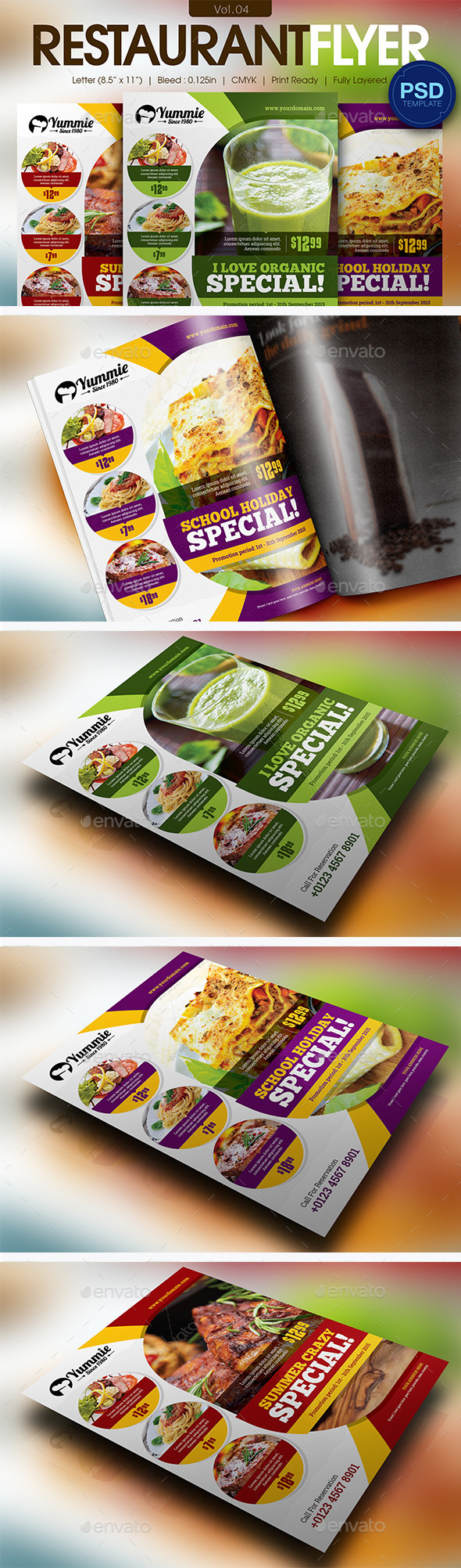 GraphicRiver Restaurant Flyer Vol.04 11596077