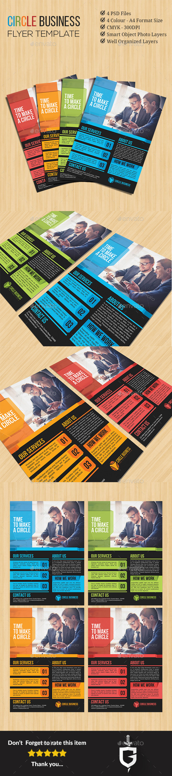 GraphicRiver Circle Company Flyer Template 11596099