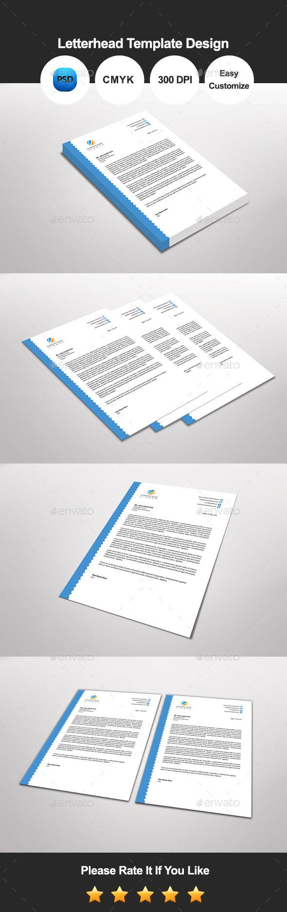 GraphicRiver Dotglear Letterhead Template Design 11596131