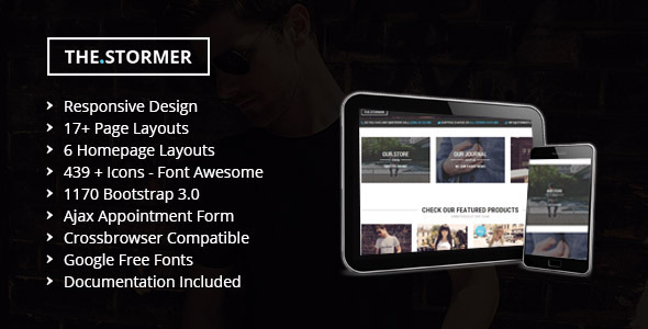 ThemeForest The Stormer Hipster Apparel HTML Template 11528930