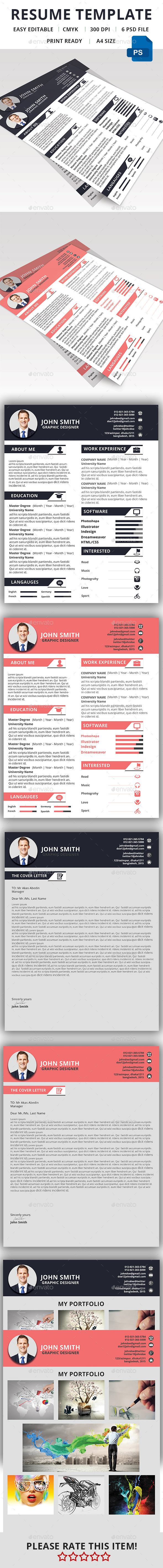 GraphicRiver Clean Resume Template 11596270