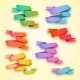 Set of Curved Ribbon Rainbow Paper Banners - GraphicRiver Item for Sale