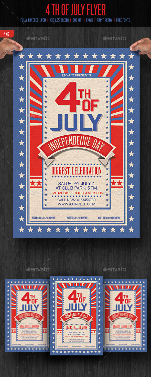 GraphicRiver 4th of July Flyer 11600020