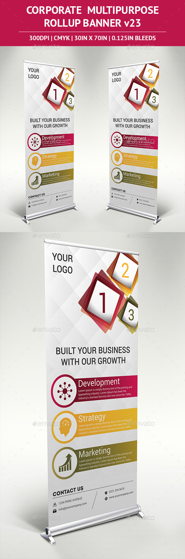GraphicRiver Rollup Banner Vol 23 11458396