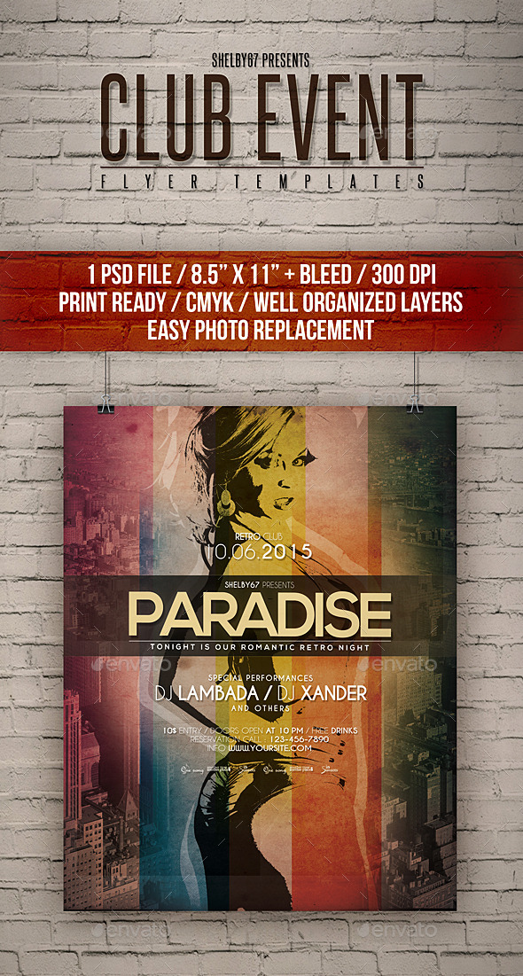 GraphicRiver Club Event Flyer Templates 11600052