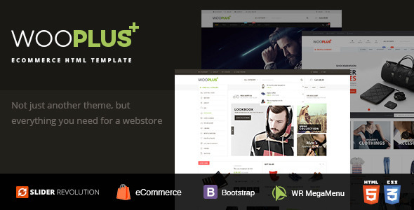 ThemeForest WooPlus Shopping HTML5 Template 11459417