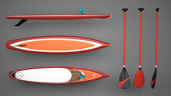 Sup Board // Paddle Board - 3DOcean Item for Sale