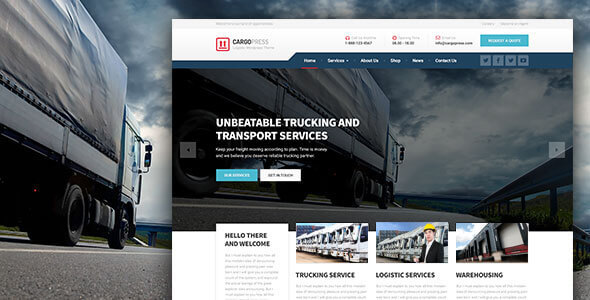 ThemeForest CargoPress Logistic Warehouse & Transport WP 11601531