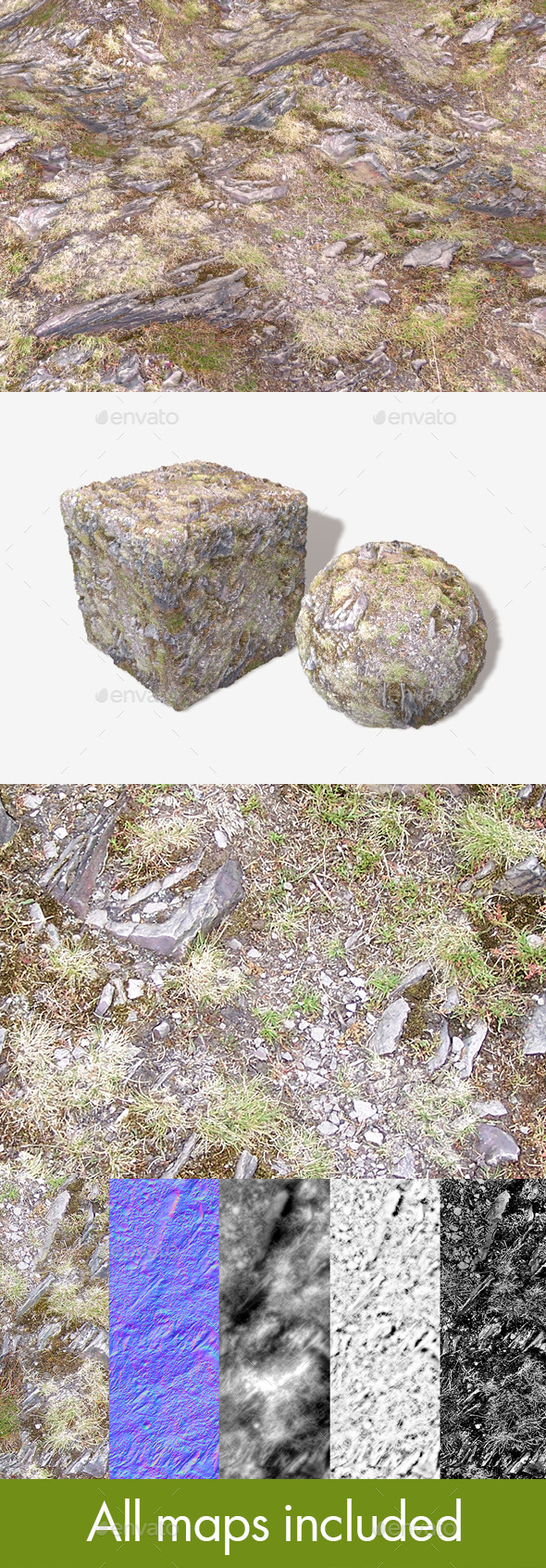 3DOcean Hill Rocks 02 Seamless Texture 11601743