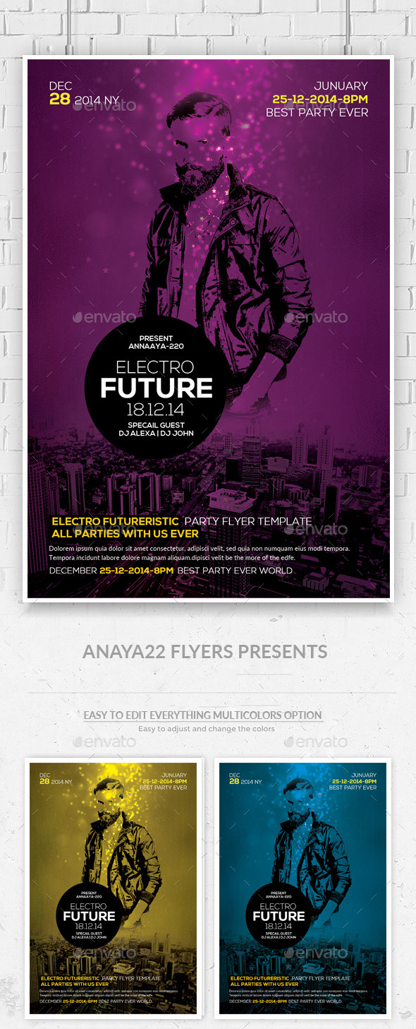 GraphicRiver Electro Flyer Template PSD 11601985