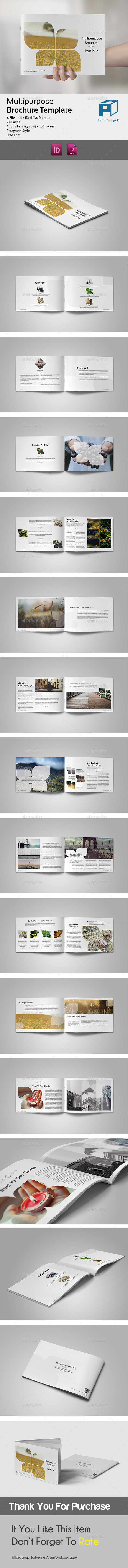 GraphicRiver Multipurpose Brochure Leaf 24 Pages 11602266
