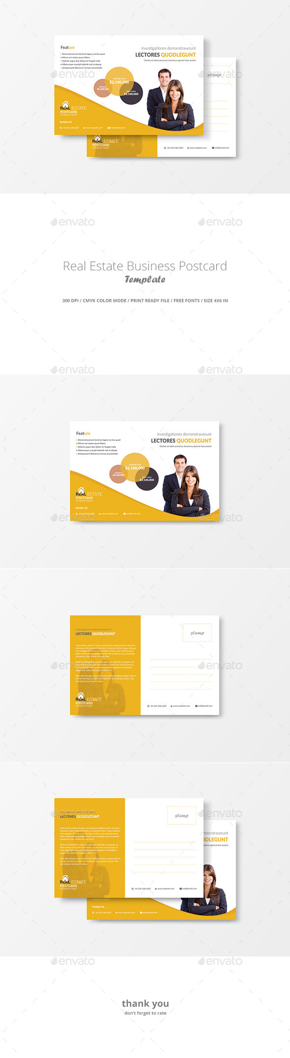 GraphicRiver Real Estate Business Postcard Template 11602267