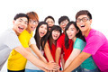 Group of young people with hands together - PhotoDune Item for Sale
