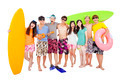 happy young group enjoy summer vacation concept - PhotoDune Item for Sale