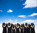 rear view Of  Students Celebrating Graduation - PhotoDune Item for Sale