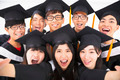 closeup Group of graduation Friends Smile for Camera - PhotoDune Item for Sale