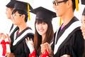 beautiful asian female college graduate at graduation with class - PhotoDune Item for Sale