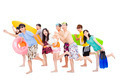 summer, beach, vacation, happy young group travel concept - PhotoDune Item for Sale