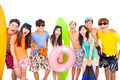 summer, beach, vacation, happy young group concept - PhotoDune Item for Sale