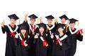 Group Of happy asian Students Celebrating Graduation - PhotoDune Item for Sale